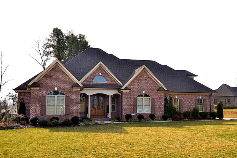 gorgeous brick-front home