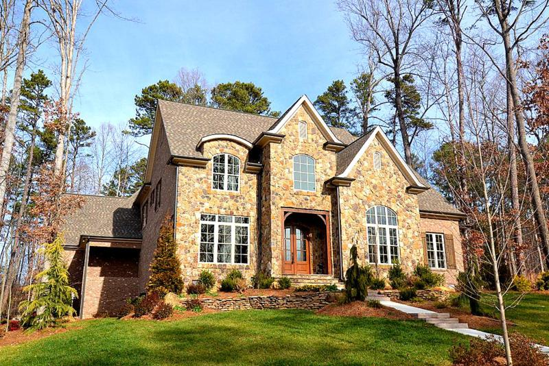 Stately stone front home